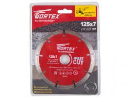 Алмазный круг 125х22 мм универс. сегмент. WORTEX (сухая резка) (AGD12507US2011)