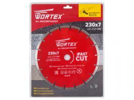 Алмазный круг 230х22 мм универс. сегмент. WORTEX (сухая резка) (AGD23007US2011)