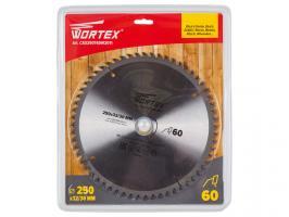Диск пильный 250х32/30 мм 60 зуб. по дереву WORTEX (твердоспл. зуб) (CSD250T60W2011)