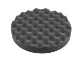 Полировальный круг 180/30, на липучке, волнистый (черный, мягкий, кит.) (WORTEX) (PMS1830B1119)