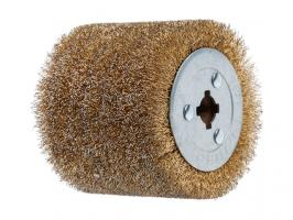 Щетка стальная с латунным покрытием 100х120 мм 0,3 мм WORTEX (диаметр 120 мм, ширина 100 мм, посадочный диаметр 19 мм, проволока 0,3 мм) (SW1012SW00319)