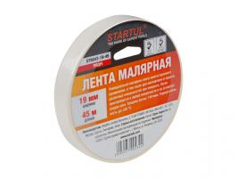 Лента малярная 19ммх45м STARTUL PROFI (ST9043-19-45), белая