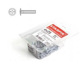 Винт М4х25 мм для мебельной фурнитуры, цинк, кл.пр. 5.8, DIN 967 (50 шт в пласт. конт.) STARFIX (SMP1-66886-50)