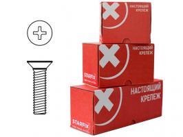Винт М6х100 мм потай, цинк, DIN 965 (25 шт в карт. уп.) STARFIX (SMC2-48906-25)