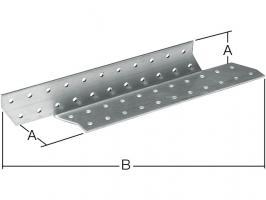 Держатель балки левый 40x290 мм DB L белый цинк STARFIX (SMP-17393-1)