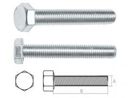 Болт М20х90 мм шестигр., цинк, кл.пр. 5.8, DIN 933 STARFIX (SMP-27543-1)