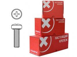 Винт М4х80 мм полусф. головка, цинк, кл.пр. 5.8, DIN 7985 (100 шт в карт. уп.) STARFIX (SMC2-52242-100)