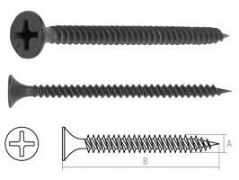 Саморез 3.5х45 мм для монтажа ГКЛ к металлу, фосфат (50 шт в зип-локе) STARFIX (SMZ3-96527-50)