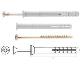 Дюбель-гвоздь 8х60 мм полипропилен потай (1000 шт в коробе) STARFIX (SMW1-42914-1000)