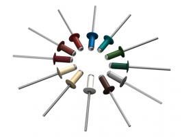 Заклепка вытяжная 3.2х8 мм алюминий/сталь, RAL 8017 (20000 шт в коробе) STARFIX (Цвет шоколадно-коричневый) (SM-52051-20000)