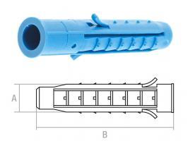 Дюбель распорный 6х60 мм четырехсегментный (500 шт) STARFIX (SM-42345-500)