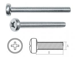 Винт М6х30 мм полусф. головка, цинк, кл.пр. 5.8, DIN 85 (250 шт в карт. уп.) STARFIX (прямой шлиц) (SMC2-74283-250)