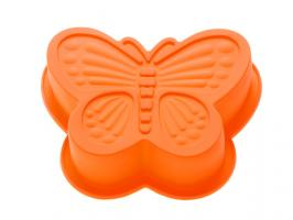 Форма для выпечки, силиконовая, бабочка, 16.5 х 13.5 х 3.5 см, оранжевая, PERFECTO LINEA