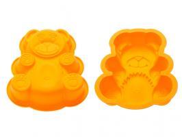 Форма для выпечки, силиконовая, мишка, 18 х 15 х 3.8 см, оранжевая, PERFECTO LINEA