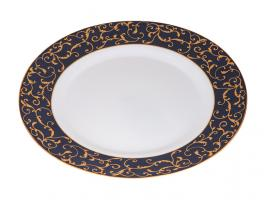 Тарелка обеденная стеклокерамическая, 275 мм, круглая, ANASSA BLUE (Анасса блю), DIVA LA OPALA (Sovrana Collection)