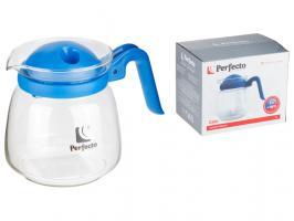 Чайник-кувшин, стеклянный, 1000 мл, Сalor, синий, PERFECTO LINEA