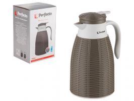 Кофейник (кофе пот) вакуумный, 1 л, Rattan (Ротанг), коричневый, PERFECTO LINEA (Кувшин-термос в индивидуальной упаковке)