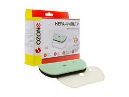 Набор микрофильтров для пылесоса OZONE H-127 (губчатый фильтр-1 шт., сетчатый фильтр-1 шт.) (Для пылесосов LG серий: Ellipse Cyclone: VK705w..,VK706w.