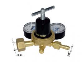 Редуктор углекислотный УР-6ДМ мини (давл. 10/0,6МПа, 1,05м3ч, ф9/6мм) ДОНМЕТ