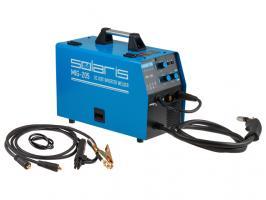 Полуавтомат сварочный Solaris MIG-205 (MIG/MAG/FLUX/MMA) (220В, встроенная горелка 2 м, смена полярности)