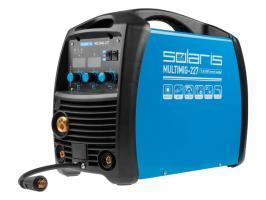 Полуавтомат сварочный Solaris MULTIMIG-227 (MIG/MMA/TIG) (220В, евроразъем, горелка 3м, смена полярности)