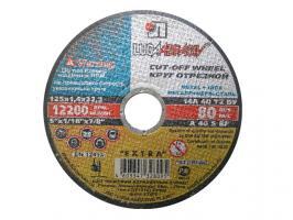 """Круг отрезной 350х3.0x32.0 мм для металла LUGAABRASIV /ручной/ (""""Ручной"""" - двустороннее усиление круга, в отличии от обычного) (4603347454749)"""