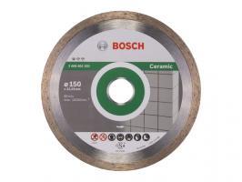 Алмазный круг 150х22 мм по керамике сплошн. STANDARD FOR CERAMIC BOSCH (сухая резка) (2608602203)