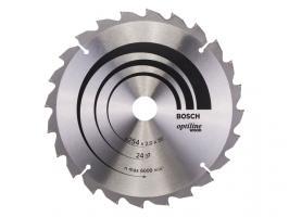 Диск пильный 254х30 мм 24 зуб. по дереву OPTILINE WOOD BOSCH (твердоспл. зуб) (2608640434)